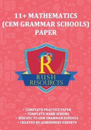 11+ cem grammar mathematics paper